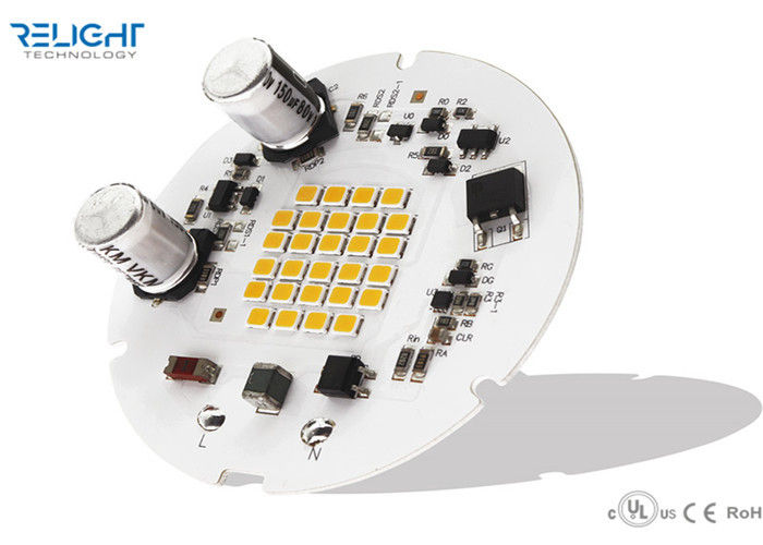 90CRI Low Flicker 65mm Modul Penuh Warna Led 3030 Leds D65MM Dengan 30% Flicker pemasok